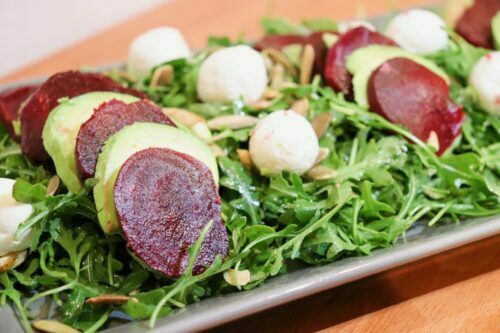 Beet, Avocado, and Goat Cheese Salad