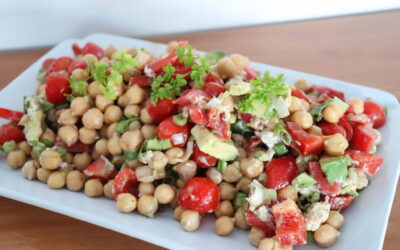 Fresh Chickpea Salad Recipe